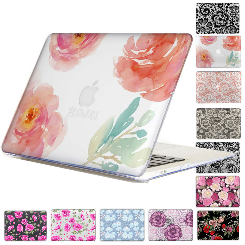 Lace Floral Rose Print Pattern Hard Clear Crystal For Macbook Pro 13 15 with /non Touch Bar Air 13 11 Pro 13 15 Retina Disply<br><br>Aliexpress