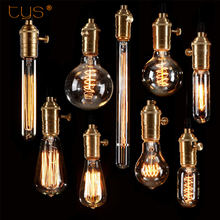 Edison Bulb E27 220V Antique Vintage Retro Lamp ST64 G80 G95 G125 Incandescent Light Edison Lamp Filament Bulbs For Pendant Lamp