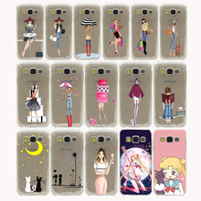 Fashionable Dress Shopping Girl Hard Case Cover for Samsung Galaxy S3 S4 S2 S5 Mini S6 S7 S8 Edge Plus case
