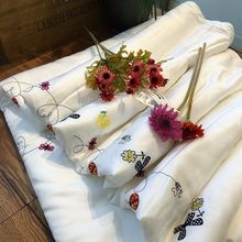Two-sided Tencel is cool in summer Washable embroidered pure cotton air conditioner quilt(China)