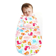 Lovely Baby Swaddling Spring Summer Cotton Infant Parisarc Baby Wrap Envelope Newborn Wrapped Towel Boys Girls Cartoon Sleep Bag