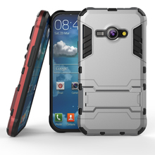 Armor Case For Samsung Galaxy J1 Ace Heavy Duty Hybrid Hard Soft Rugged Silicone Rubber Phone Back Cover with Stand Function ( <(China)