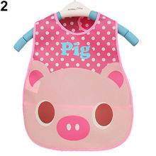 1 pc Baby Kid Child Toddler Infant Cute Boy girl Bib Waterproof Saliva Towel Feeding accessories 9 colors(China)