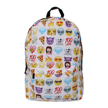 QOKR Emoji 3D printing women oxford backpacks smiley school bag for teenagers girls Shoulder Bag Mochilas middle students bags(China)