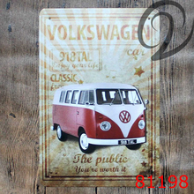 Volkswagen Public Car Vintage Decorative Plates Home Bar Pub Cafe Restaurant Decor Shabby Chic Vintage Home Decor Tin Signs