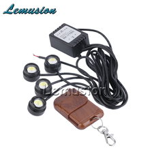 4x Car Strobe Eagle Eye with Wireless Remote For Peugeot 307 206 308 407 207 2008 3008 508 406 208 For Citroen C4 C5 C3 C2(China)