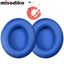 misodiko Replacement Earpads Ear Pad Cushions for Beats Studio 2.0 Wired Wireless Over-Ear Headphone Pads with AUX Cable, Blue(China)