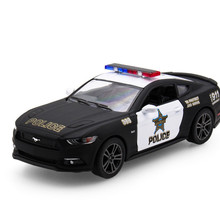 KINSMART 1:38 Ford Mustang GT Police Car Alloy Model Toys Sports Cars Door Open And Pull Back Cheap-Toys Toys For Children(China)