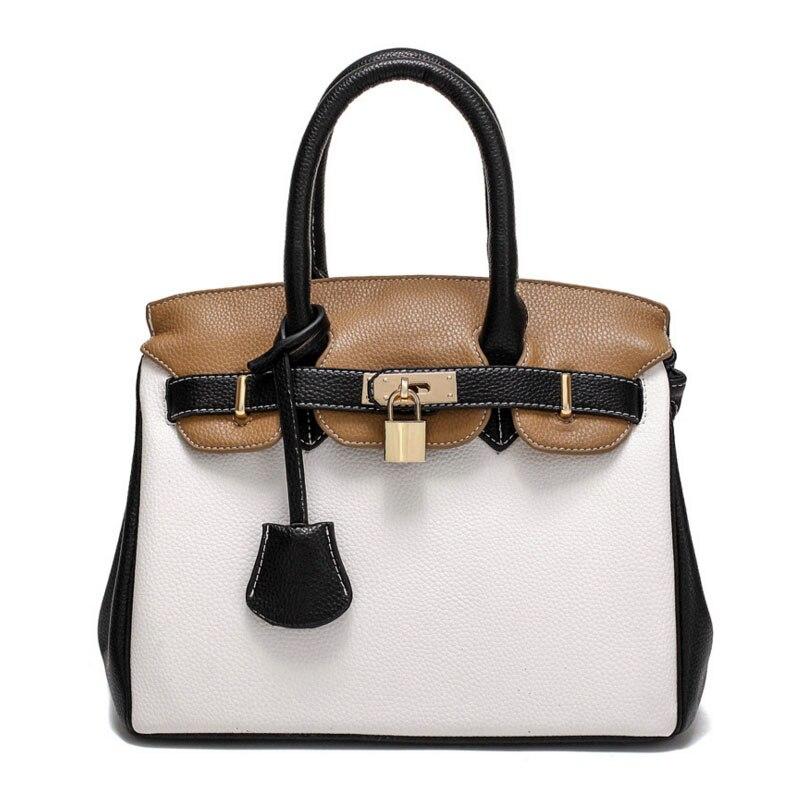 Women Leather Handbags Lock OL Bag Luxury Fashion Designer Bolsos Mujer Female Messenger Bags sac a main Ladies Bolsos Tote Bag<br><br>Aliexpress