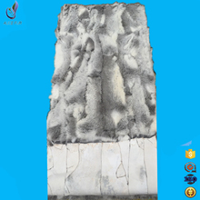 Factory supply handmade scrap rabbit fur rug real rabbit plate with cheap price(China)