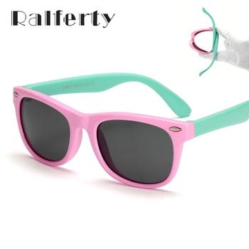 Ralferty tr90 flexível crianças óculos de sol polarized revestimento de óculos de sol uv400 óculos shades infantil da segurança do bebê criança óculos de sol