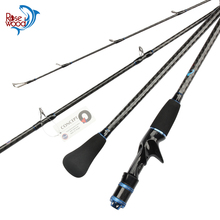 2 Section Fishing Light Slow Jigging Rod Saltwater 1.95m (632) High Carbon Fuji Boat Fishing Rod Jigging Lure Weight Max 200g(China)
