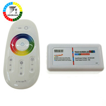 Coversage 2.4G LED RGB Controller DC12-24V Touch Screen RF Remote Control for RGB LED Strip Bulb Downlight 3528 5050 RGB(China)