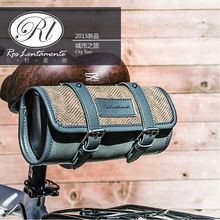Ros Lentamente Retro Series Handmade Cotton Tail Bag Saddle Bag Oil Wax Cloth Bicycle Back Package Pack(China)