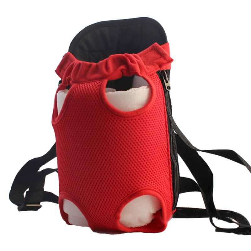 Durable Pets Carrier Dog Front Chest Backpack Five Holes Backpack Dog Carrier Tote Bag Sling Holder Mesh Cat Puppy Dog Carriers