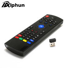Alphun MX3 Portable 2.4G Wireless Remote Control Keyboard Controller Air Mouse for Smart TV Android TV box mini PC HTPC black