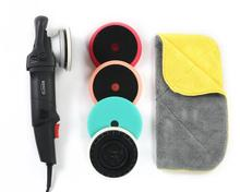 "Forced rotation Dual Action polisher set with 5"" and 6"" backing pads and 3 Germany foam pads and 800GSM towel(China)"