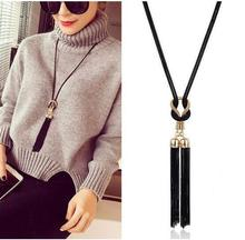 Buy 2017 New Arrival Female Pendant Necklace Tassel Long Winter Sweater Chain Necklace Hot Selling Women Necklace for $1.17 in AliExpress store