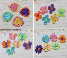 Approx 2.6cm Multi options Polyester  Sew-on Embroidery Patch Garment Appliques DIY Accessories 12pcs/lot 082007176
