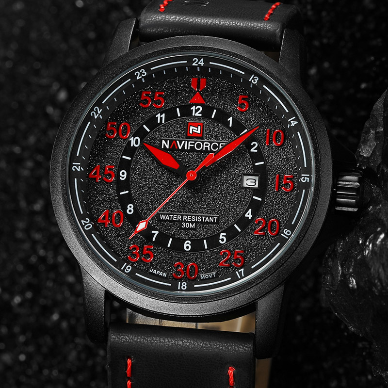 NAVIFORCE Luxury Brand Relogio Masculino Date Leather Casual Watch Men Sports Watches Quartz Military Wrist Watch Male Clock<br><br>Aliexpress