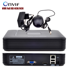 Mini NVR Full HD 4CH 8CH Security CCTV NVR 1080P ONVIF 2.0 For IP Camera System 1080P With Radiator Surveillance System(China)
