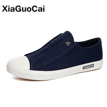XiaGuoCai Spring Autumn Newest Men Loafers Breathable Slip-On Casual Shoes Trend Lazy Men's Canvas Shoes Fashion Flat Footwear