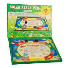 Solar Track Car, 1 Rail + 2 Mini Solar Cars, Speed Game Toy, Patent Product, No batteries Only Sunlight, Children Best Gift Toys(China)