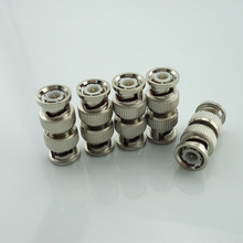 100Pcs/Lot Wholesale Splitter Plug Adapter Bnc Connector Male To Bnc Male Coupler For Rg59 Cctv Cable Adapter Cctv Accessories
