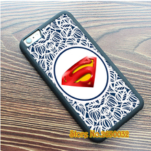 Superman logo red glow fashion cell phone protection case cover for iphone 4 4s 5 5s se 5c 6 6s 6 plus 6s plus 7 7 plus #rs995
