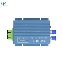 10pcs Aluminium CATV FTTH AGC Micro SC APC Duplex Connector with 2 output port WDM for PON FTTH OR20 CATV Fiber Optical Receiver(China)