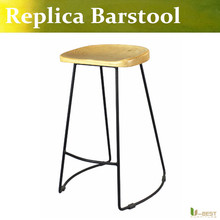 Free shipping U-BEST Home Bar Furniture kitchen barstool ,tall counter chairs,Metal Barstool, Powder Coated black leg(China)