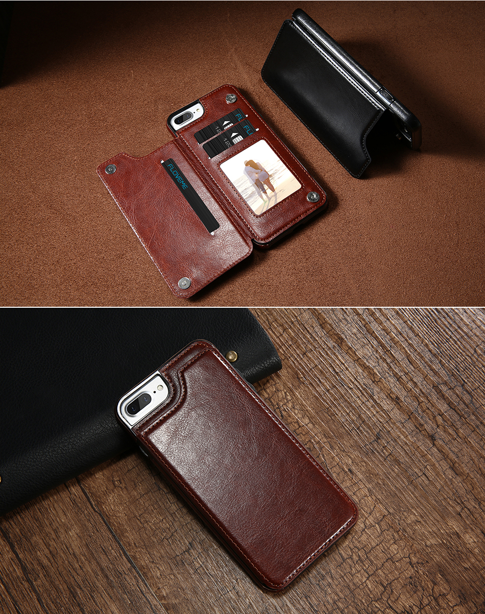 FLOVEME Luxury Wallet Case For iPhone 6 6S Bracket Type Leather Card Holder Kickstand Flip Back Cover For iPhone 7 7 Plus 6 Plus_09