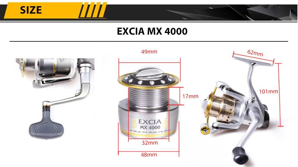 EXCIA MX 4000 size