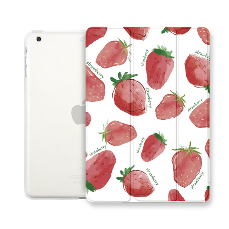 Case for iPad mini 1 2 3, Strawberry series Tri-fold smart cover Ultra Slim PU Leather Back Case for iPad mini 1 2 3<br><br>Aliexpress
