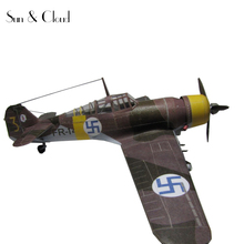 1:32 3D Fokker D.XXI Fighter Plane Aircraft Paper Model Assemble Hand Work Puzzle Game DIY Kids Toy(China)