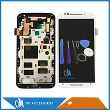 "5.2"" With Tools Black White For Motorola X+1 X2 XT1092 XT1095 XT1097 For Moto X2 LCD Display+Touch Screen Digtizer With Frame(China)"