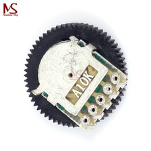 10PCS A103 10K Duplex Gear Potentiometer Dial A10K 16x2mm for Radio MP3/MP4(China)