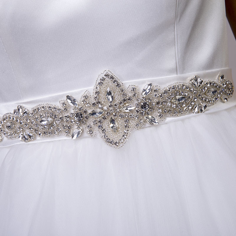 LORIE Beach Wedding Dresses O-Neck Beaded Sashes Princess Tulle Cheap Bridal Dress Free Shipping White wedding Gown Custom Made 8