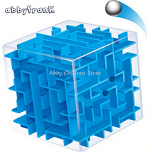 3D Maze Magic Cube Puzzle Speed Cube Labyrinth Rolling Ball Toys Puzzle Game Cubos Magicos 3D Model Educational Intelligence Toy(China)