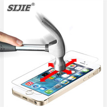 SIJIE Tempered Glass For iphone 4 5 5S 6 6S 7 plus Screen protect mobile phone protect discount free gift Cover 6PLUS 7PLUS