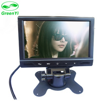 "GreenYi T702 5PCS/Lot 7"" TFT LCD 800x480 720P Headrest Car Monitor Parking Video Player with 2 Video Input Remote Support MP5"