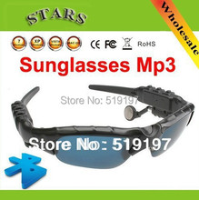 Wholesale free shipping cheap and have sunshade function new style cool MP3 Player sunglasses with Bluetooth for sport & rest.