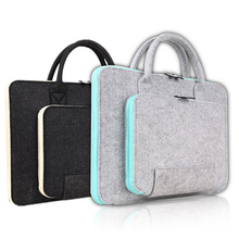 11 13 15 17 inch Wool Felt Laptop Bag For Macbook Air Pro Retina Asus Lenovo HP Computer Notebook Portable KUMON Breifcase