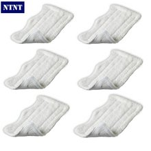 NTNT 6 QTY For Shark Lite Velcro Washable Microfibre Steam Mop Cloth Cleaning Pad New