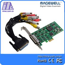 6 channel CVBS unbalance stereo analog audio signals sd capture pci-e card support PAL NTSC