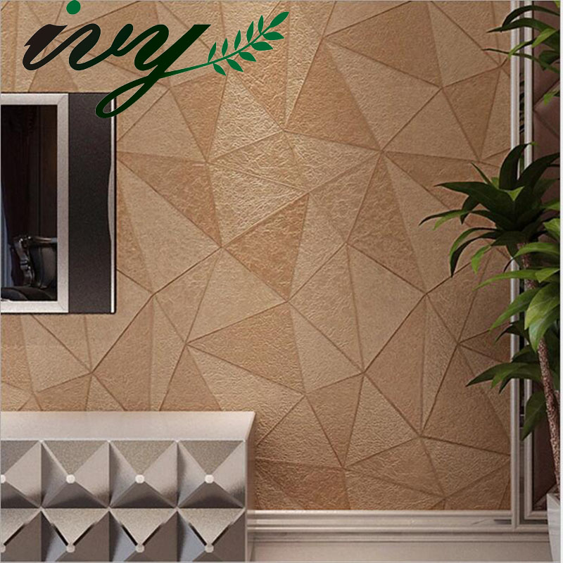 IVY MORDEN Faux Leather 3D Wallpaper Geometry Luxury Living Room Wall Paper for Walls Home Decor Large Mural Wallpapers<br>