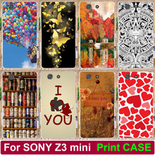 Print Love You Beer Moon Happy Colorful Case For Sony Xperia Z3 compact z3 mini D5803 D5833 PC Hood Phone Case Shell Back Cover