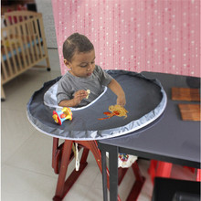 Protect Babies Eat To Prevent Baby Throw Things Waterproof Cloth Material To Eat Chair Cushion Booster Seats Baby Feeding Mat(China)