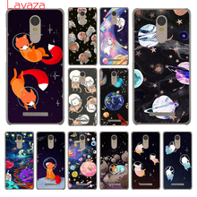 Lavaza cat Astronaut dog fox Space Moon universe Case for Xiaomi Mi 6 5 5s mi6 mi5s Plus Redmi 3S 4 4X 4A Pro Prime Note 2 3 Pro(China)
