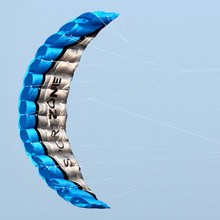 Free Shipping High Quality  2.5m Blue Dual Line Parafoil Kite WithFlying Tools Power Braid Sailing Kitesurf Rainbow Sports Beach